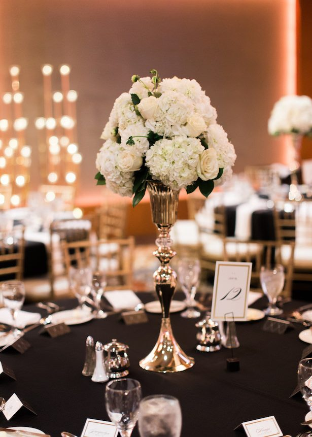 Tall white wedding centerpiece - Alexandra Knight Photography