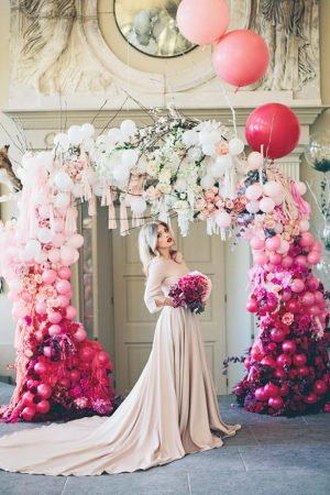 Wedding Balloon Arch - photo by Jessica Withey Photography