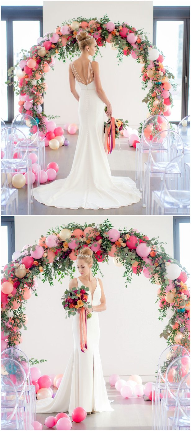 Wedding Balloon Arch - Andrea DeLong Photography