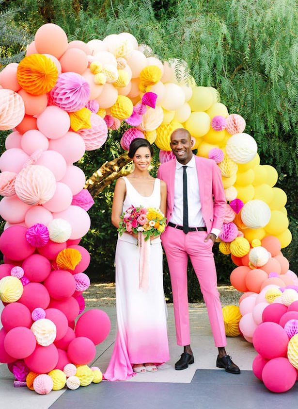 Wedding Balloon Arch - Mary Costa Photography
