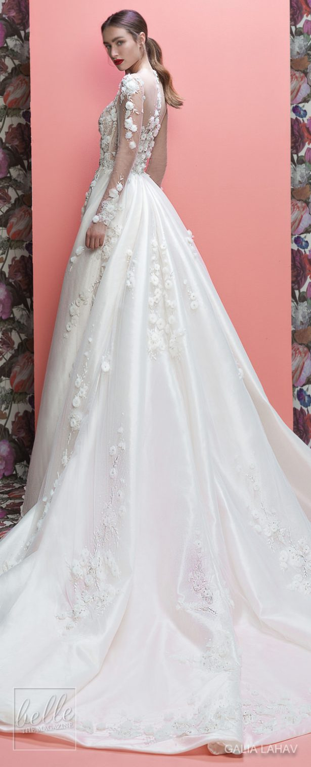 Wedding Dresses By Galia Lahav Couture Bridal Spring 2019 Collection- Queen of Hearts - Thea-withTrain