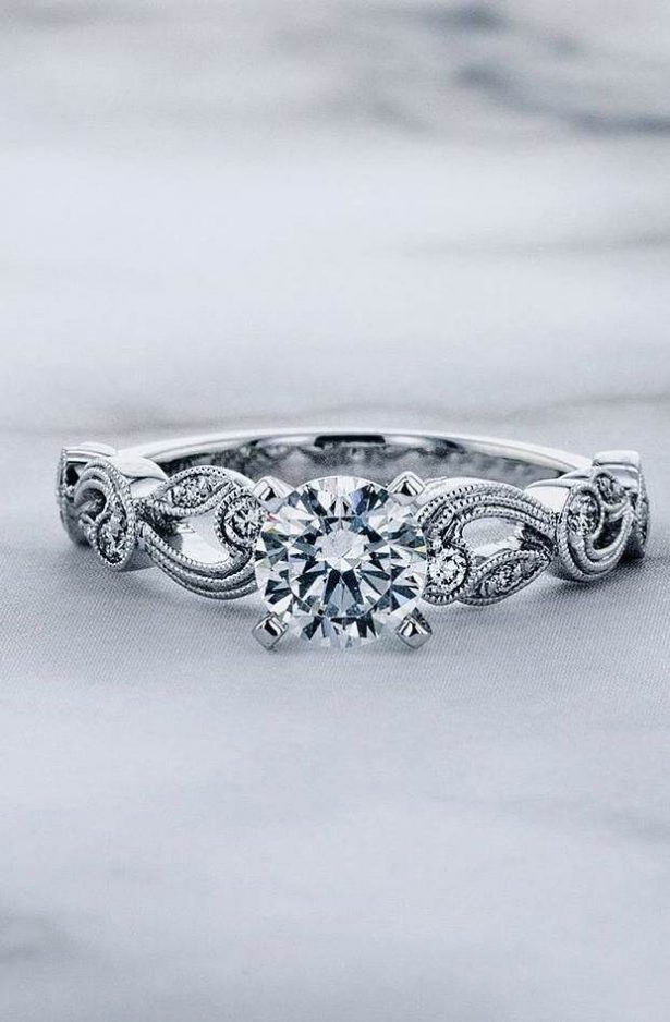 Wedding and engagement ring by Simon G