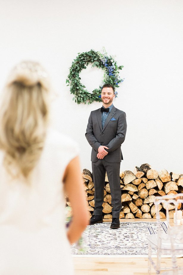 Wedding first look- Esther Funk Photography