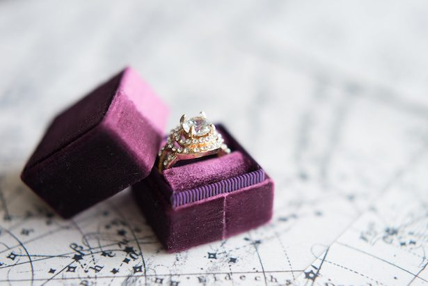 Wedding ring and purple ring box - Vanessa Anne Photography