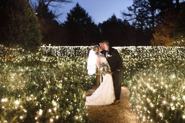 Blues and greens made for the perfect winter wedding colors junglespirit Images