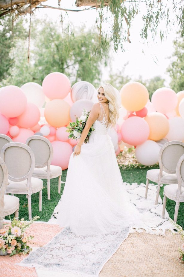 Wedding balloon backdrop -Allie Lindsey Photography