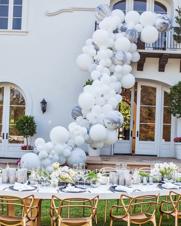 Wedding balloon installation - John & Joseph Photography