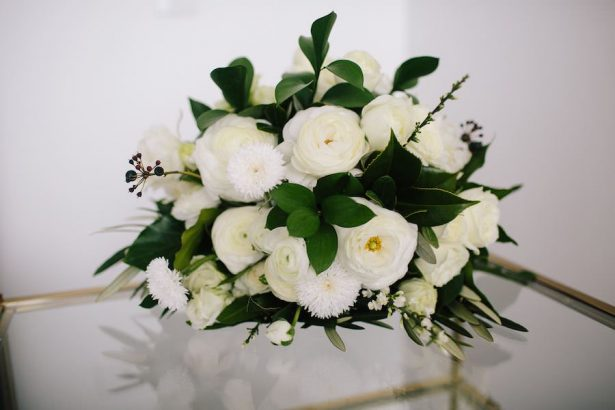 white and green wedding bouquet - Photography: Prue Franzman
