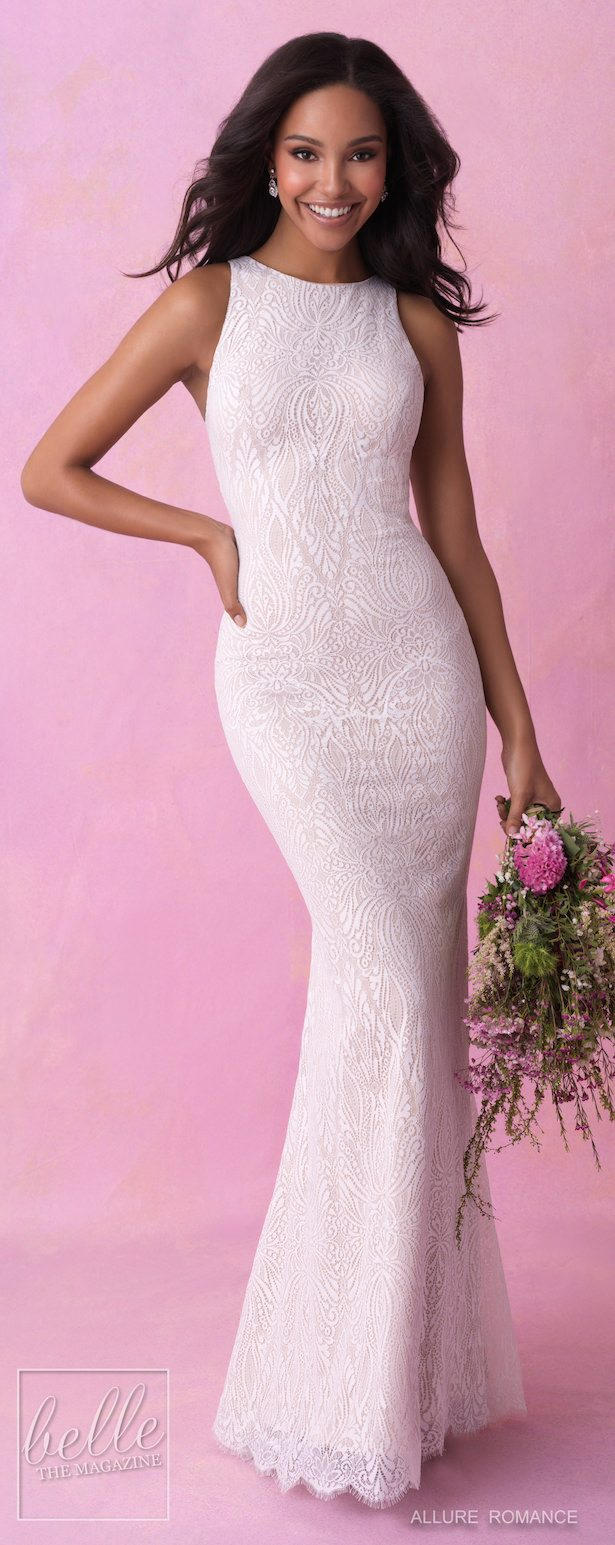 Bridal Trentes- Halter Wedding Dress - Allure Romance Fall 2018