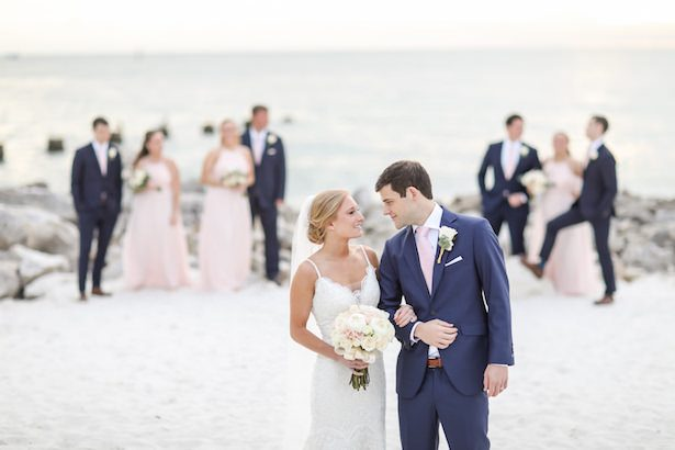 Beach Wedding Party Photo - Lifelong Photography Studio