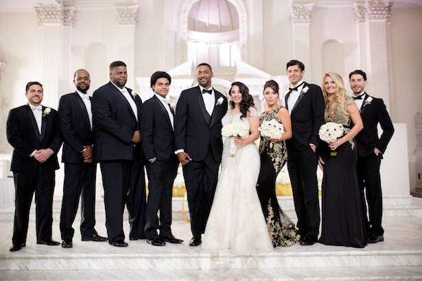 Black White and Gold Glamorous Wedding - Photo: Hollywood Pro Weddings