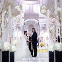 Black and White Glamorous Wedding Ceremony - Photo: Hollywood Pro Weddings