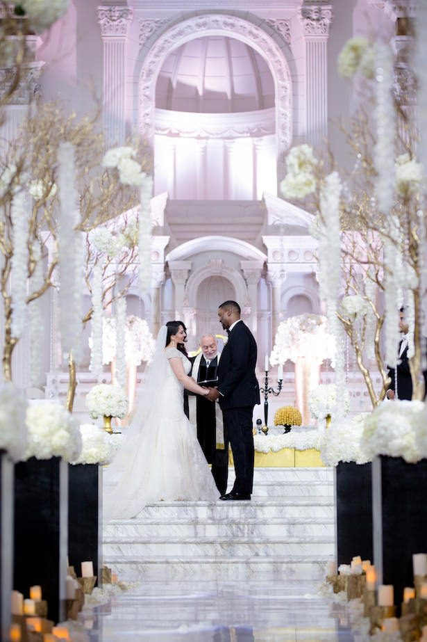 Black and White Glamorous Wedding