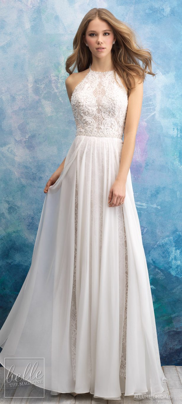Bridal Trends - Halter Wedding Dress - Allure Bridals Fall 2018