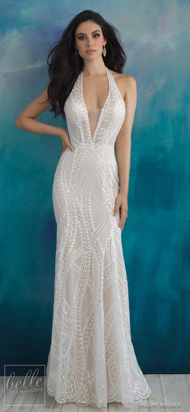 Bridal Trends- Halter Wedding Dress - Allure Bridals Spring 2018