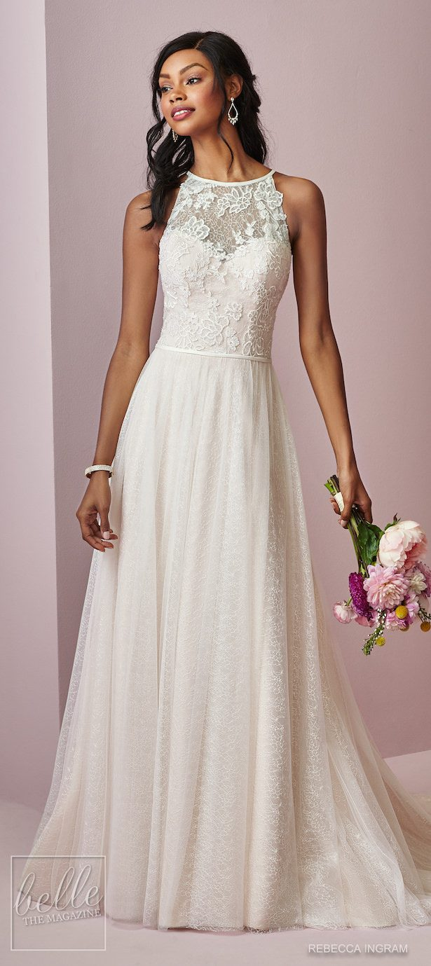 Bridal Trends - Halter Wedding Dress - Rebecca Ingram