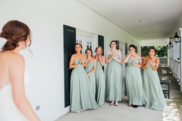 Bridesmaid picture idea first look - Rachel Figueroa Photography