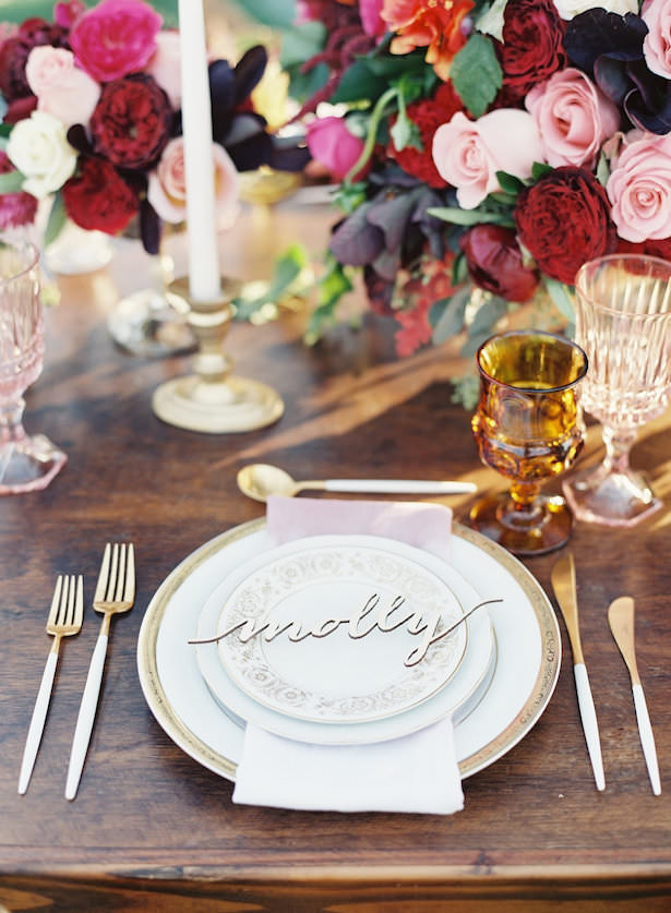 Creative Wedding Place Setting Idea 002. All You Need Is Love Events - Caroline Tran Photography