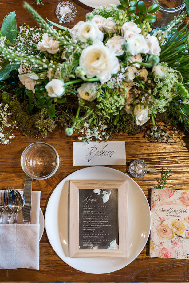 Creative Wedding Place Setting Idea 006. FiftyFlowers.com - Danielle Coons