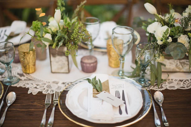 Creative Wedding Place Setting Idea 008. Laurel & Rose - Marissa Maharaj - Floral & Rentals by Penzi