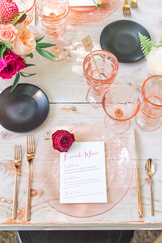 Creative Wedding Place Setting Idea 012. Sanaz Photography - Archive Rentals - Chic Celebrations - Bloominous