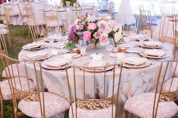 Elegant Tent Wedding Place Setting - Acqua Photo Photography