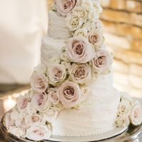 Floral white white wedding cake - Aislinn Kate Photography