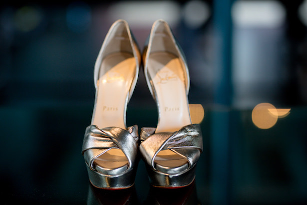 Gold wedding shoes - Hollywood Pro Weddings