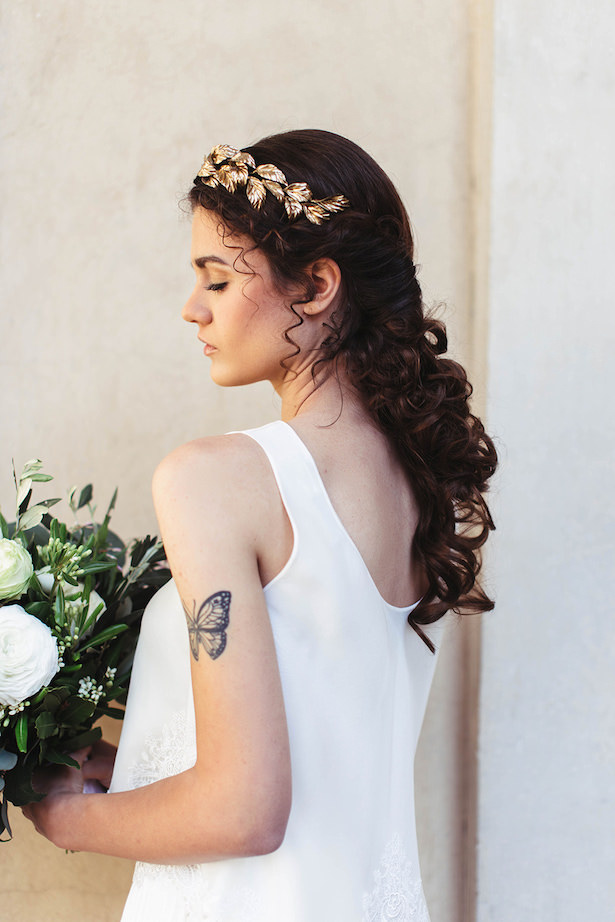Greek Meet Modern Wedding Hairstyle- Photography: Miriam Callegari