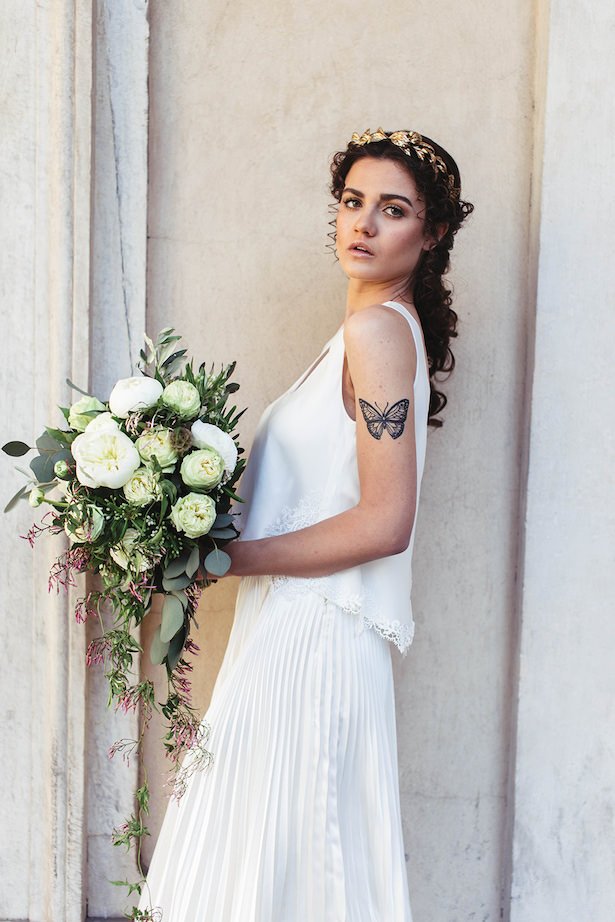 Greek meets Modern Wedding dress - Photography: Miriam Callegari