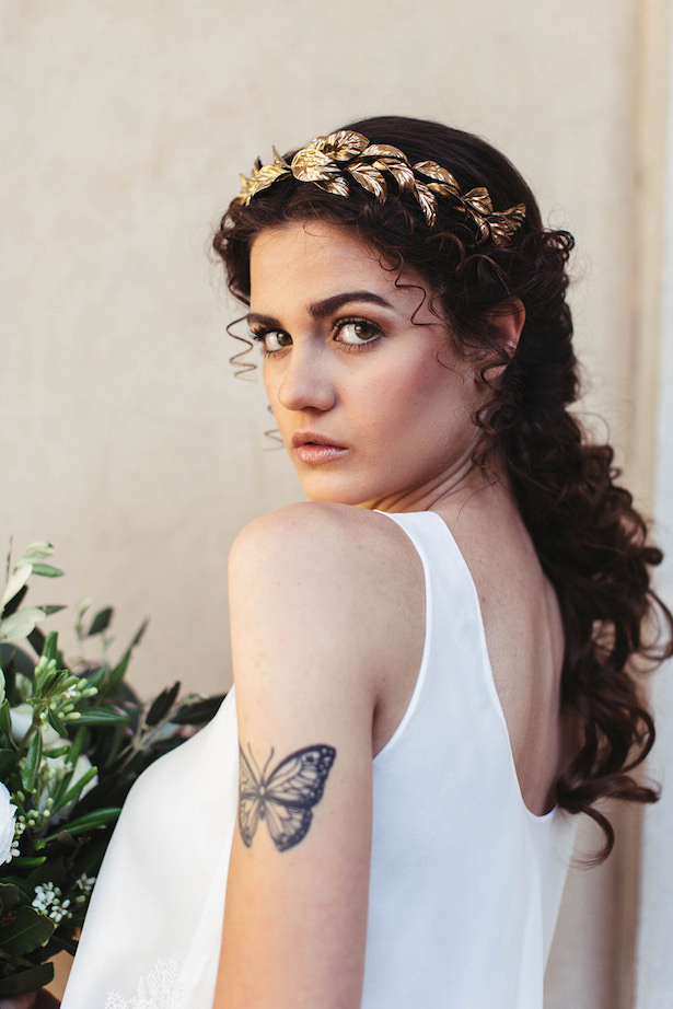 Greek meets Modern Wedding hair and makeup - Photography: Miriam Callegari