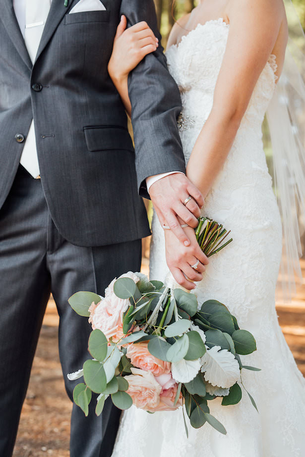Greenery and roses wedding bouquet - Rachel Figueroa Photography