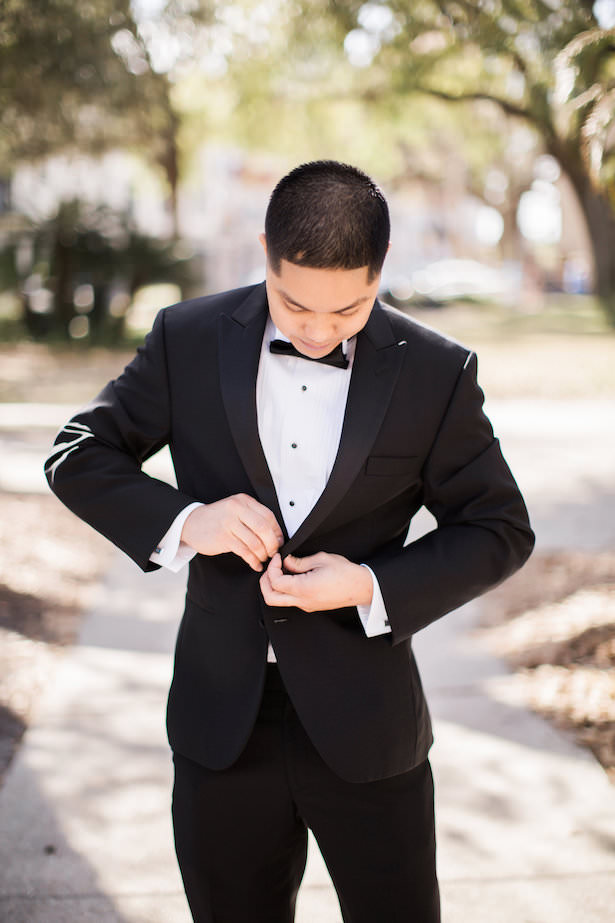 Groom black Tux - Brooke Images