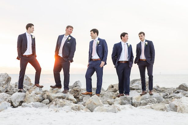 Groomsman attire in navy suits - Lifelong Photography Studio
