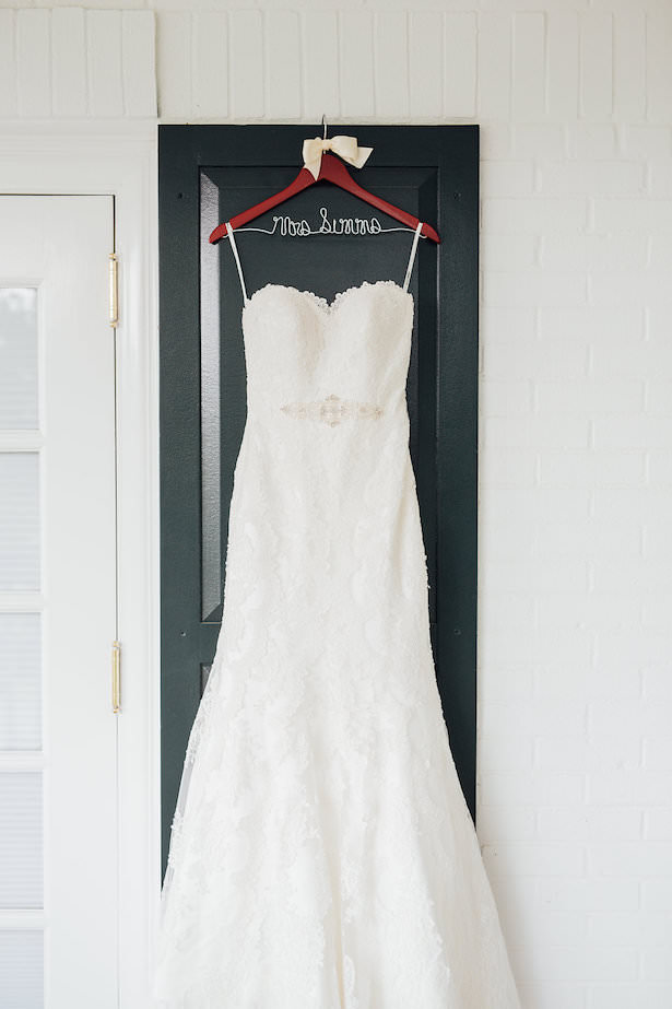Lace strapless wedding dress - Rachel Figueroa Photography