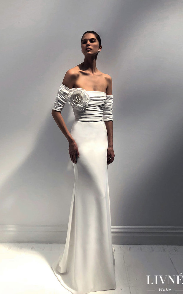 Livné White 2019 Wedding Dress - Eden Bridal Collection -CELINE