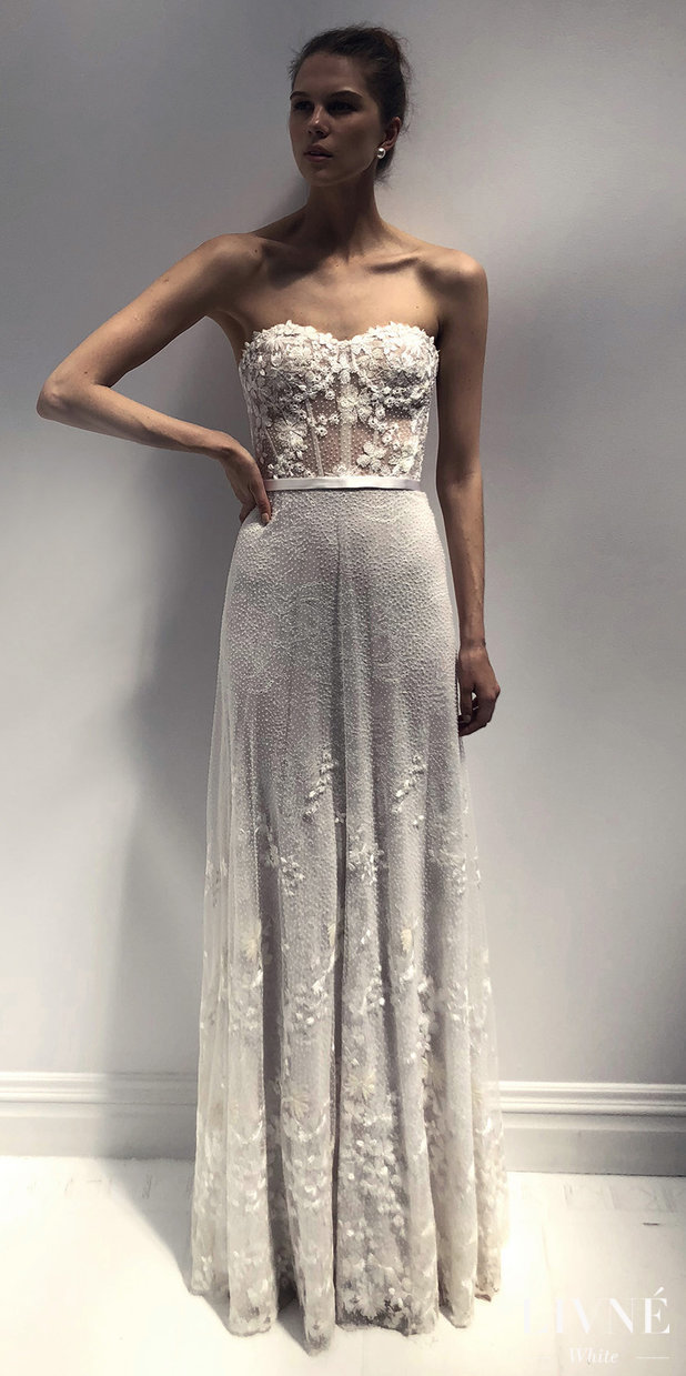 Livné White 2019 Wedding Dress - Eden Bridal Collection -JEAN