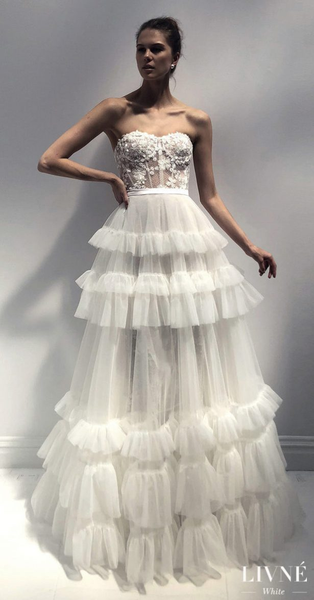 Livné White 2019 Wedding Dress - Eden Bridal Collection -JEAN AND LUNA SKIRT