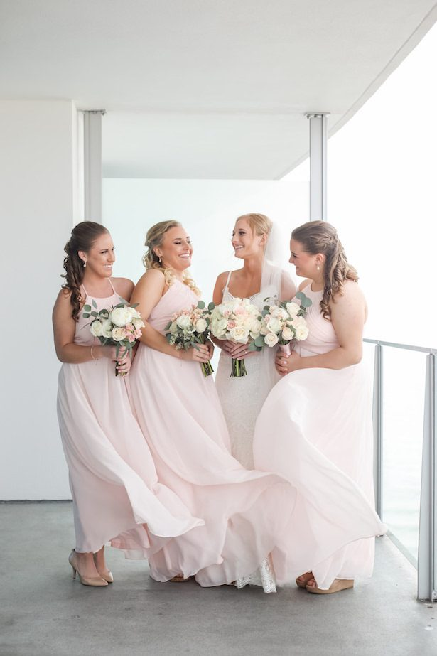 Long blush bridesmaid dresses - Lifelong Photography Studio