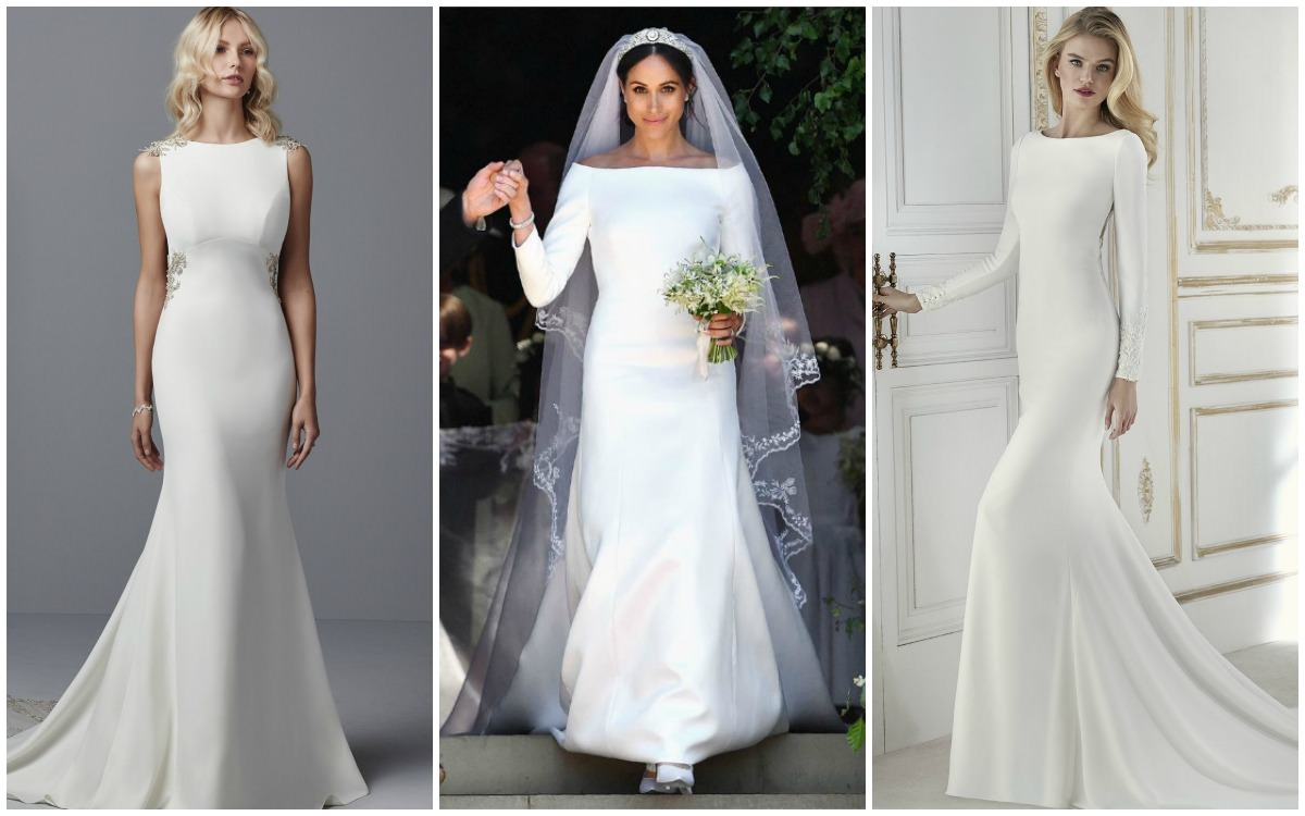 Simple Wedding Dresses Two Piece Bridal Gown 2: Simple Wedding Dresses Inspired By Meghan Markle