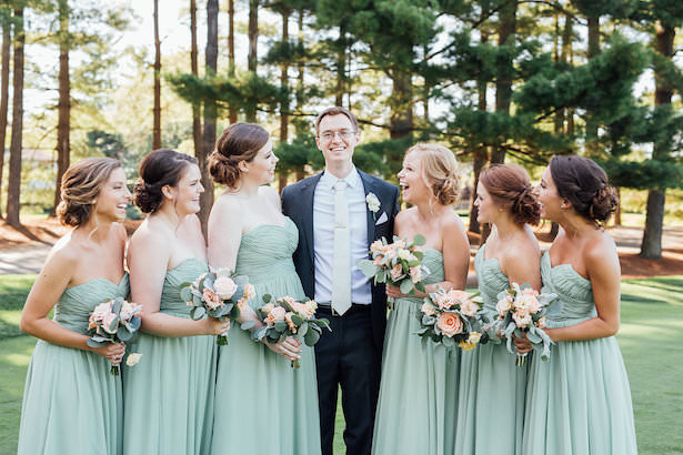 Mint long bridesmaid dresses - Rachel Figueroa Photography