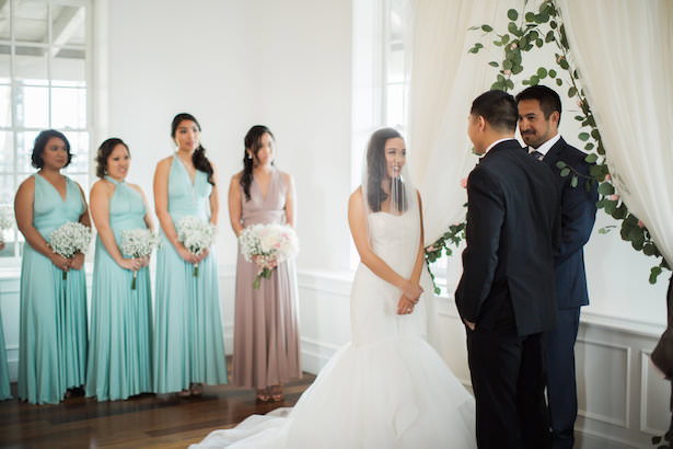 Pastel wedding ceremony - Brooke Images