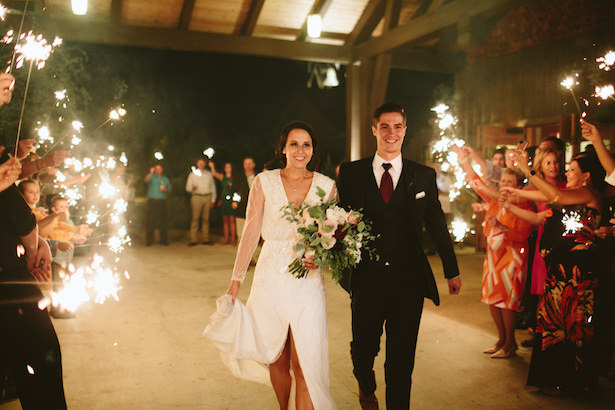 Romantic wedding photo exit - Photo: Elizabeth Bristol