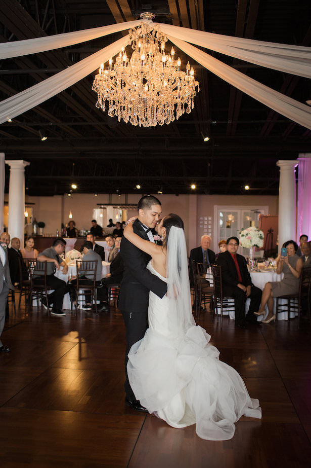 Romantic wedding photo first dance - Brooke Images