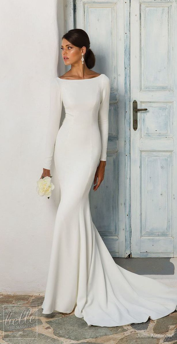 Simple Wedding Dresses Inspired by Meghan Markle - Justin Alexander