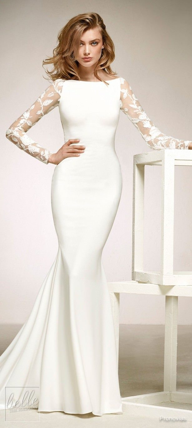 Simple Wedding Dresses Inspired by Meghan Markle - Pronovias 3a