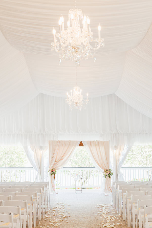 Tent wedding ceremony decor - Rachel Figueroa Photography