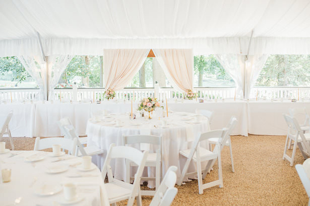 Tent wedding reception decor - Rachel Figueroa Photography