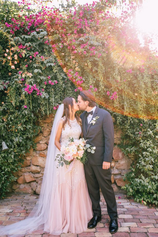 Tulle Wedding Dress and Veil -007. Feathered Arrow Events - Palms and Pines Photography - Hello Honey Flower Co.