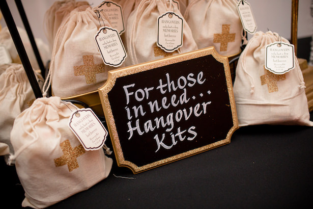 Wedding Favors - Hangover kits - Photo: Hollywood Pro Weddings